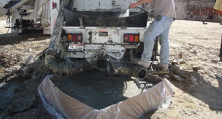 Ready Mix Concrete Washout Pack Its Called OutPak And It Makes The Job Clean And Green.