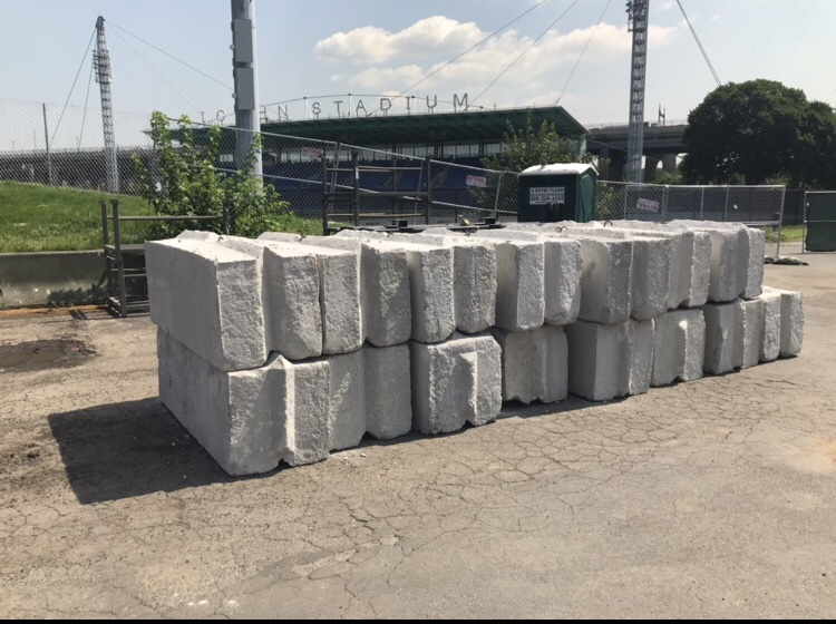 Standard 6 foot long raw blocks 4300 lbs